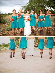 Casual Country Style Bridesmaids Dresses With Cowboy Boots Country Western Style Bridesmaid Dresses