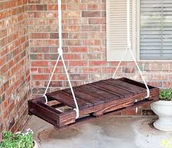 pallet furniture pinterest. Recycled Wooden Pallet Hanging Bench Furniture Pinterest R
