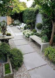 garden designs without grass side