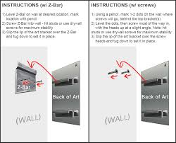 how to hang metal wall art mounting instructions on hardware to hang metal wall art with wall art hanging hardware elitflat