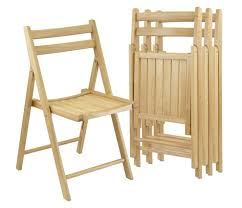 chair you can wear. a set of four folding wood chairs can be at the ready as extra seating for guests. chair you wear