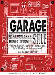 free garage sale signs garage yard sale signs box household stock vector royalty free