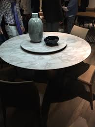round dining table with lazy susan. Marble Round Dining Table With Lazy Susan Built In I