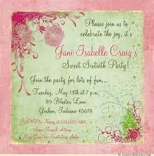60 birthday invitations pink floral sweet 60th birthday invitations rustic party fun flowers