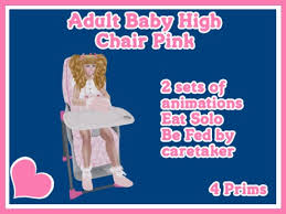 AB Designs Adult Baby High Chair Pink Second Life Marketplace -