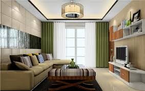 White And Green Living Room 3d Green And White Curtains Living Room 3d House