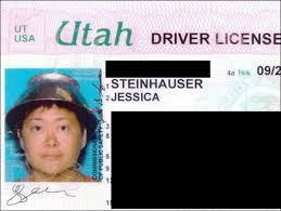 Woman Driver's Photo For License Wears Colander