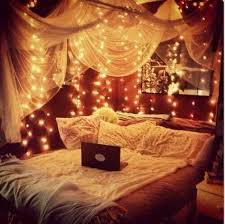 Good Looking String Lights For Bedroom With Cute Pillows