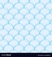 Mermaid Tail Pattern Cool Mermaid Tail Seamless Pattern Royalty Free Vector Image