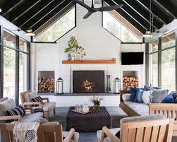 house furniture design ideas. brilliant ideas large farmhouse slate floor and gray sunroom idea in other with a  standard fireplace in house furniture design ideas