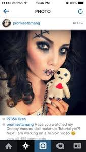 promise tamang on insram have you watched my creepy voodoo doll make up tutorial yet next i am working on a minion video