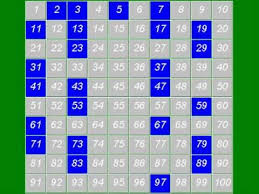 Prime Chart To 1000 Prime Numbers The Sieve Of Eratosthenes