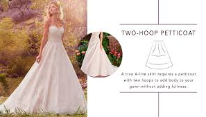 picking a petticoat love maggie love maggie Wedding Dress With Hoop a line wedding dresses by maggie sottero, sottero and midgley and rebecca ingram wedding dresses with hoods