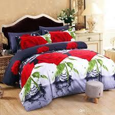 camo bedding king red rose duvet cover bedding set flowers bed sheet pillowcases single queen king camo bedding