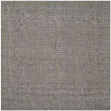 natural fiber light gray 8 ft x 8 ft square area rug