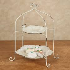 Baby Clothes Display Stand Two Tier Flower Display Tray Stand 83