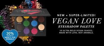 new super limited vegan love eyeshadow palette 10 ultra bold vegan shades