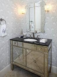 Trendy Mirrored Bathroom Vanity Cabinet Antiqued Contemporary Vanessa  Deleon Cabinets 24 Wide Mirror
