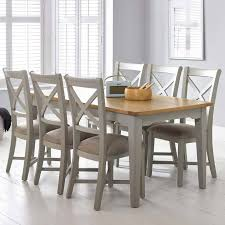 bordeaux painted light grey large extending dining table 6 chairs seats 6 8