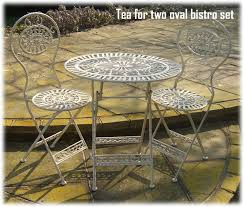 tea for 2 cream lattice weave wrought iron patio bistro set