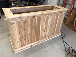 raised cedar planter box. Raised Cedar Planters Box Inside Planter