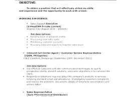 Call Center Job Description For Resume Customer Service Support Job