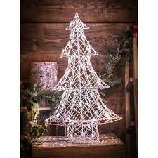 Hurst Tree Lighting Noma 2518311 Wicker 80cm Christmas Tree With 100 White Leds