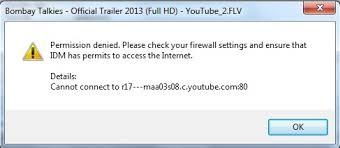 Firewall Please Your Settings - Error Permission Idm Denied Real Decoder Check