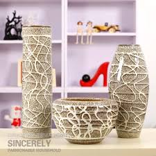 Modern ceramic beihanmei ceramic home decorations decoration vase flowers  threaded mess line three piece suit arranged