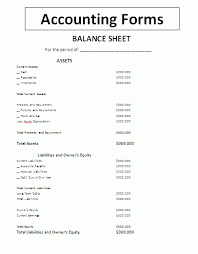 Balance Sheet Accounting Form General Forms Balance Sheet