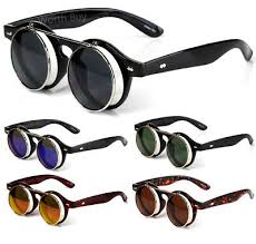UNISEX VINTAGE <b>POLARIZED</b> Steampunk <b>Sunglasses</b> Fashion ...