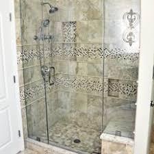tile shower bench. Brilliant Tile Neutral Tile Shower With Bench In Traditional Bathroom In H
