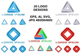 20 Impossible Polygon Logo Designs (Eps | Design Bundles