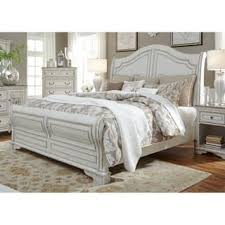 antique white bedroom furniture. Exellent Bedroom Magnolia Home Antique White Sleigh Bed For Bedroom Furniture