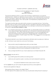 Personal Statement Template Ucas Ucas Personal Statement Example Template Best Template Collection