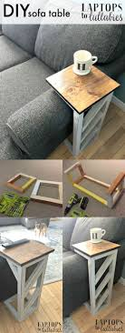 easy diy table that slides under the edge of the couch