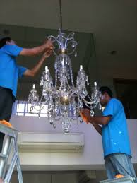 we provide installation restoration and cleaning of crystal chandeliers for hotel mosque private house inum hdb etc