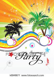 summer party clipart. Brilliant Summer Abstract Summer Party Theme Vector Illustration For Summer Party Clipart C