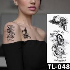 поддельные временные татуировки наклейки темная роза цветы татуировка на руку