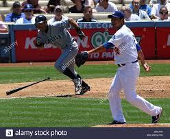Mariners Ichiro Suzuki #51 and Dodgers pitcher Hiroki Kuroda #18 Stock  Photo - Alamy