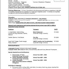 Cv Template Word Pdf High School Student Resume Format Doc