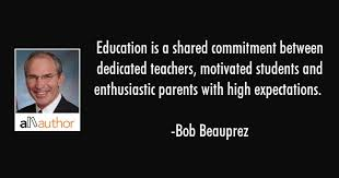 Quote About Education Cool Education Is A Shared Commitment Between Quote
