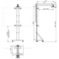 <b>Универсальная мобильная</b> подставка UMS-2 для интерактивной ...
