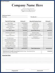 Payroll Sheet Samples Free Payroll Template Templateral
