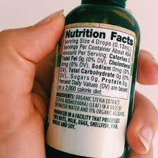 stevia and it s amazing how so few drops add so much sweet i get mine at whole foods but sweet leaf also makes them sells them on amazon