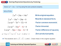 9 solving polynomial equations by factoring