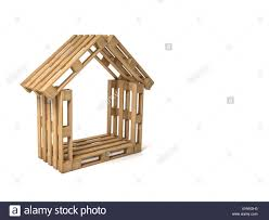 Wood Pallet House Abstract 3d Wood Pallet House Stock Photo Royalty Free Image