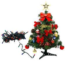 Mini Christmas Tree With Lights And Decorations Amazon Com Tabletop Xmas Tree Creative Mini Christmas Pine