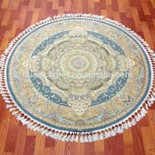 5ft round rug hand knotted silk carpet and wool classic oriental round rug 5ft x 8ft