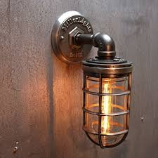 industrial cage wall sconce outdoor